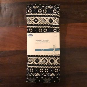 NWT Old Navy Black Gray Fairisle Winter Leggings